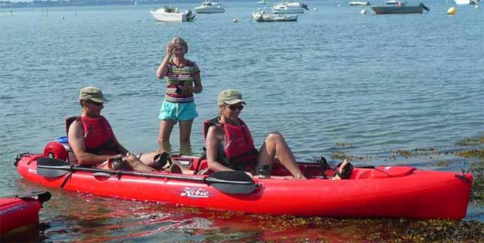 Feet Kayak dans le golfe du Morbihan